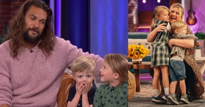 Kelly Clarksons kids stopped by her talk show last week
