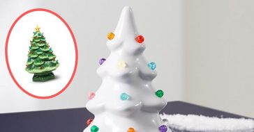 Many retailers including Aldi are selling classic ceramic Christmas trees