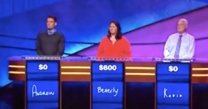 No one recognized Tom Hanks during that Jeopardy! game