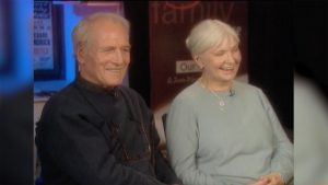 Paul Newman and Joanne Woodward later