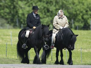 Queen Elizabeth can be seen riding horses across the years, even at 93