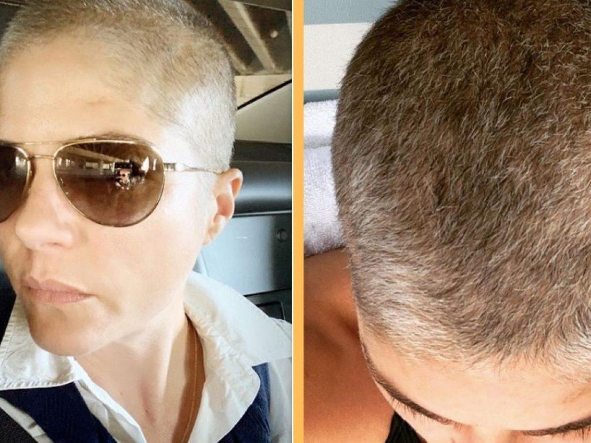 Selma Blair Rocks New Short Grey Look As Hair Regrows After Chemo