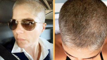 Selma Blair Rocks A New Short And Grey Look As Hair Regrows After Chemo Treatment