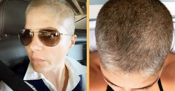 Selma Blair Rocks A New Short And Grey Look As Hair Regrows After Chemo Treatment