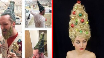 The Iconic 'Christmas Tree Hair' Is Back This Holiday Season