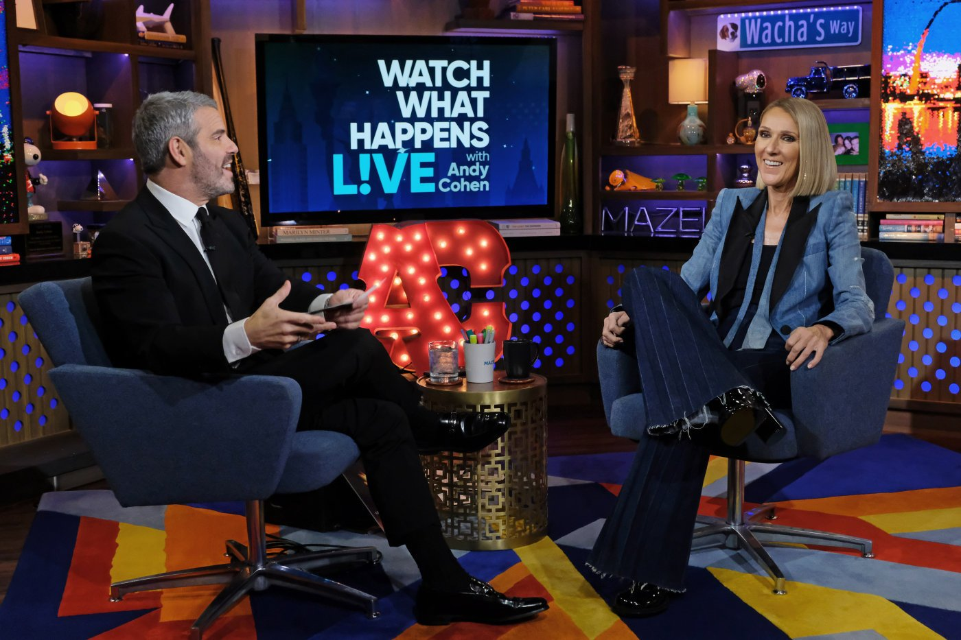 celine dion andy cohen watch what happens live bravo