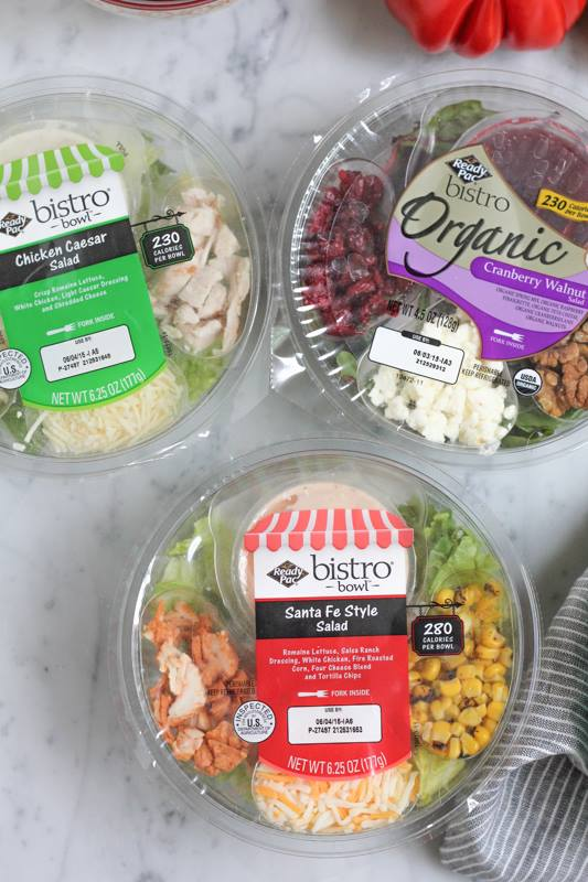 packaged bistro salads