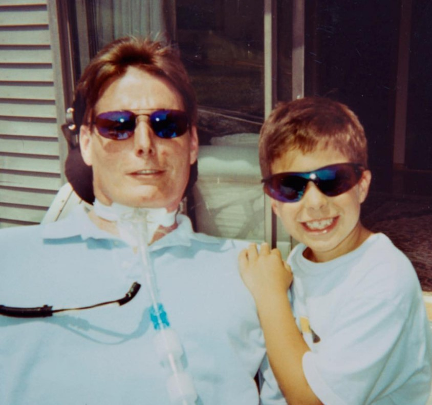 christopher reeve and son will reeve throwback photo