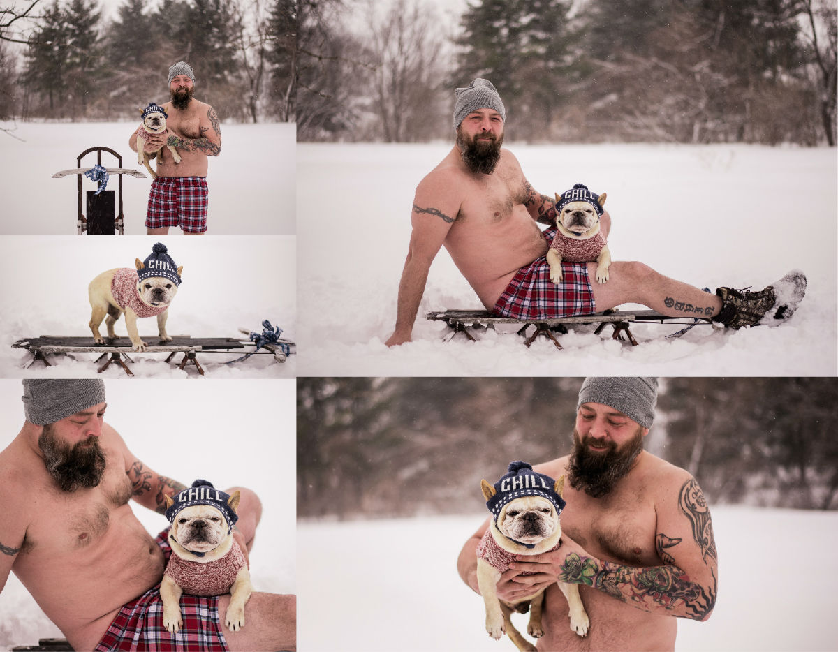 dad bods and rescue dogs calendar