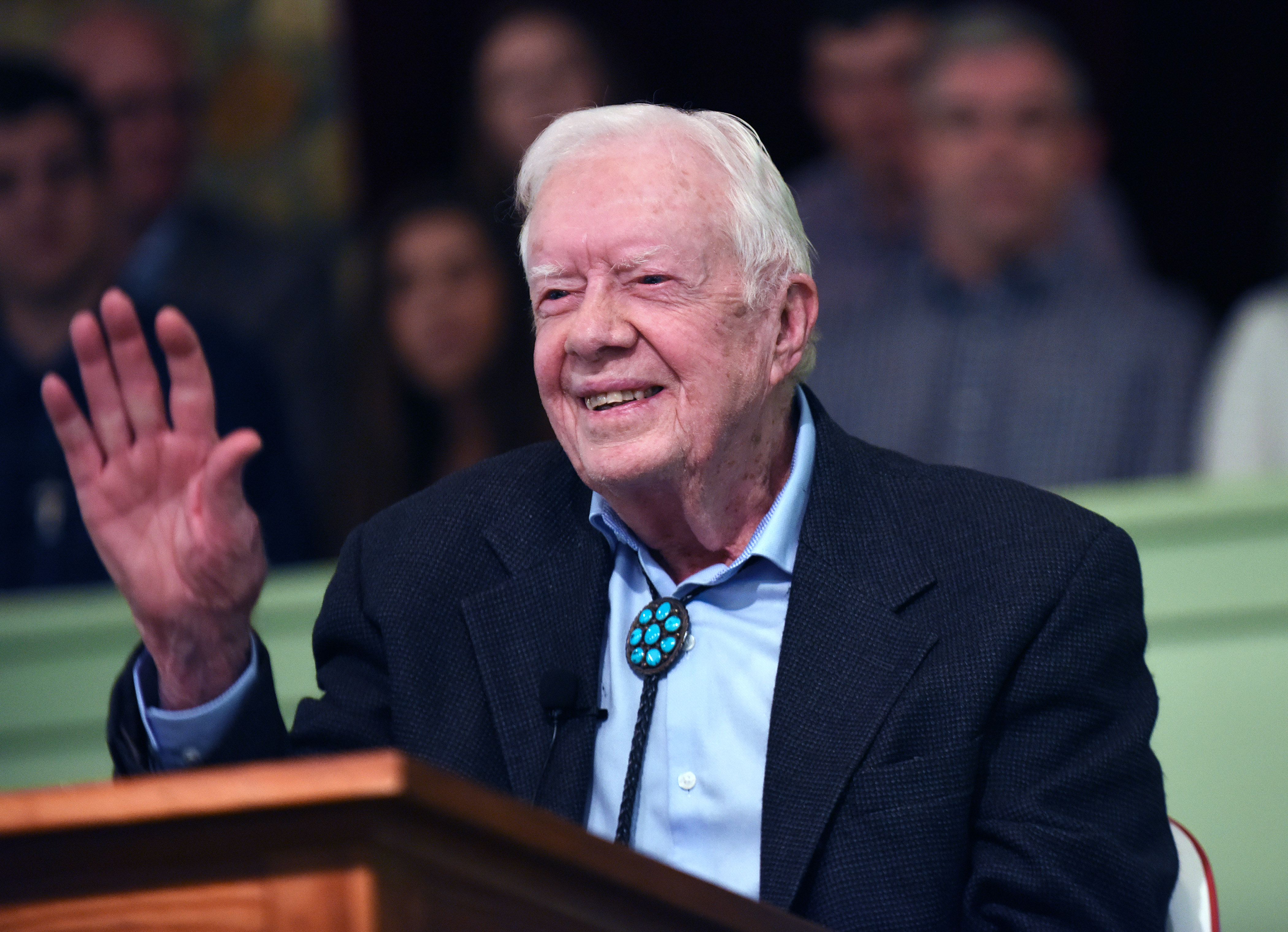 jimmy carter waving
