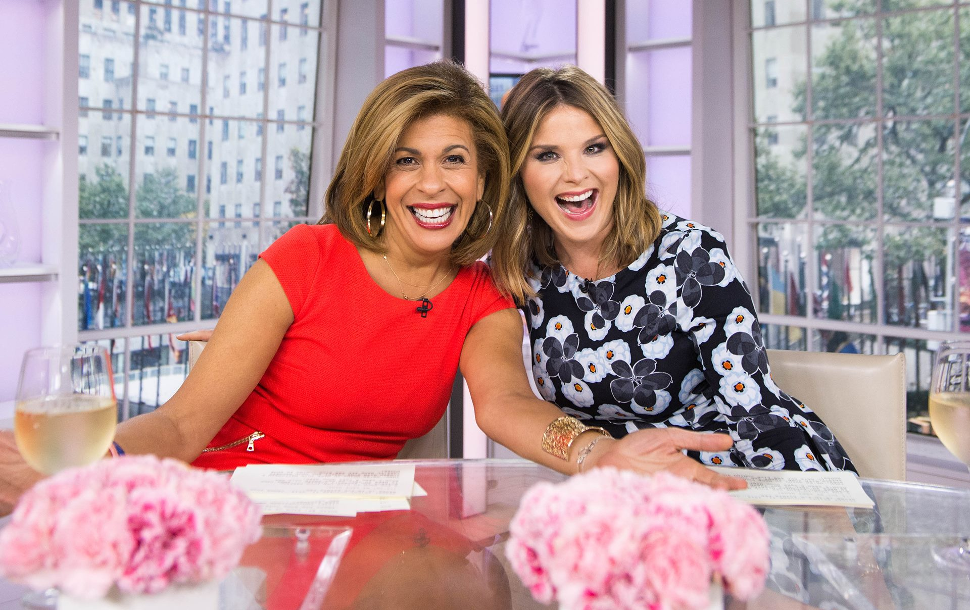 hoda kotb and jenna bush hager on the today show