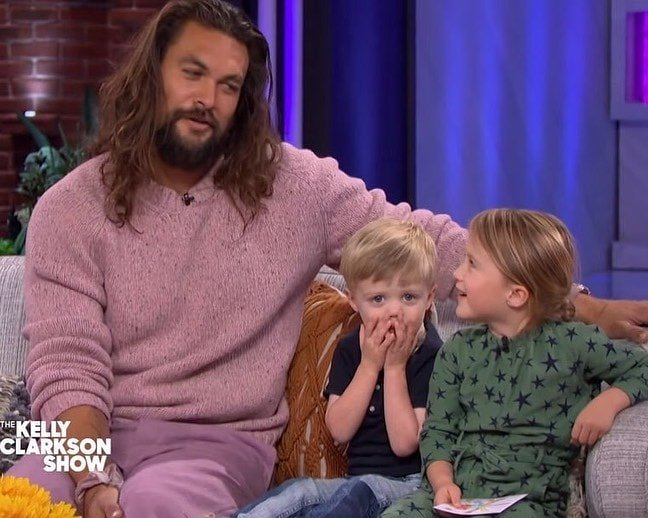 jason momoa the kelly clarkson show kids river and remy
