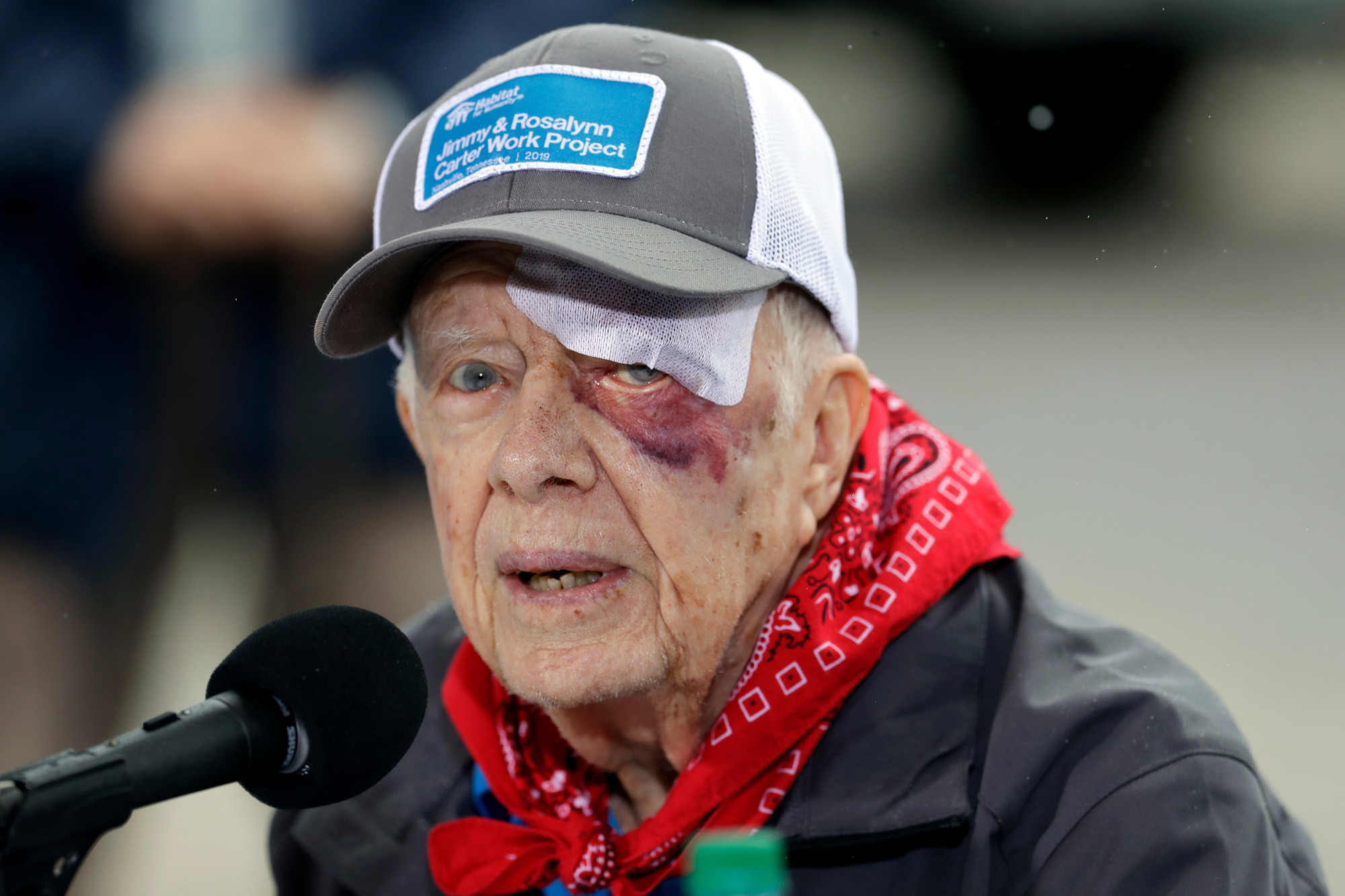 jimmy carter shares that he is at ease with death