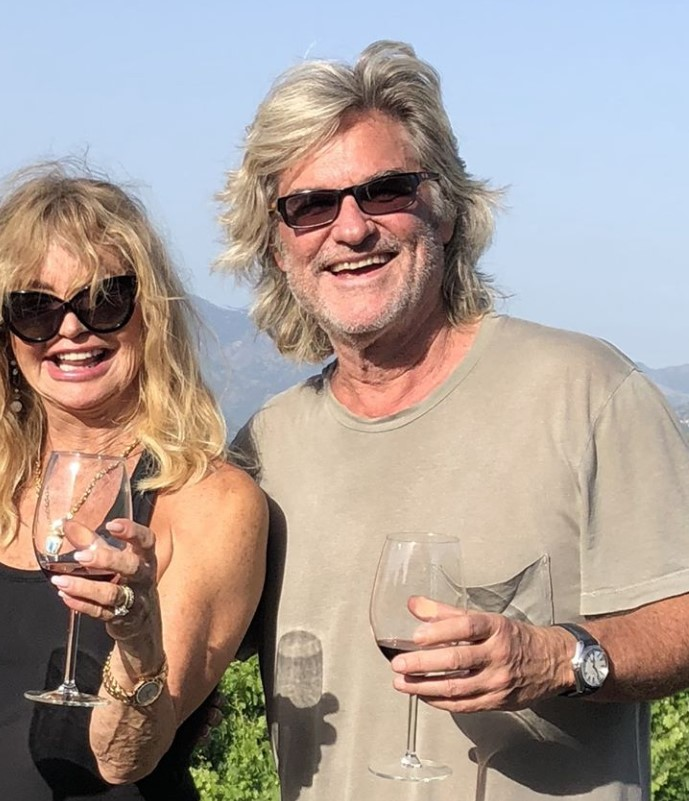 goldie hawn and kurt russell wine