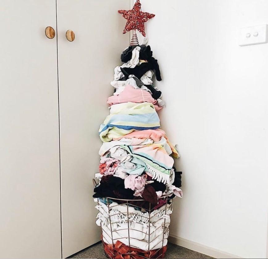 laundry christmas tree