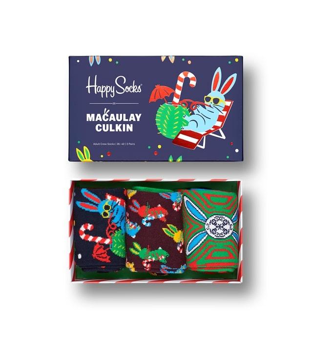 macaulay culkin happy socks holiday themed
