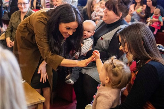 prince harry meghan markle visit military families