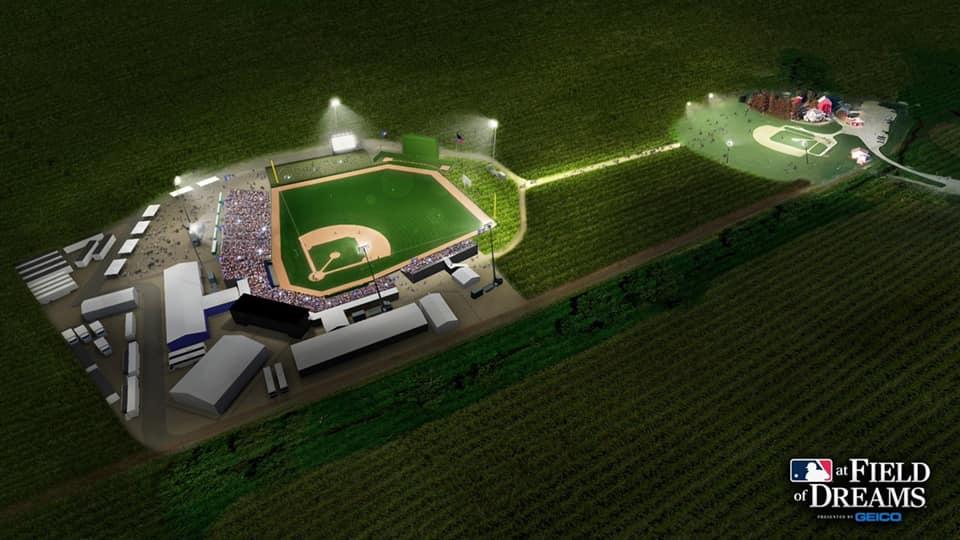 mlb field of dreams baseball game