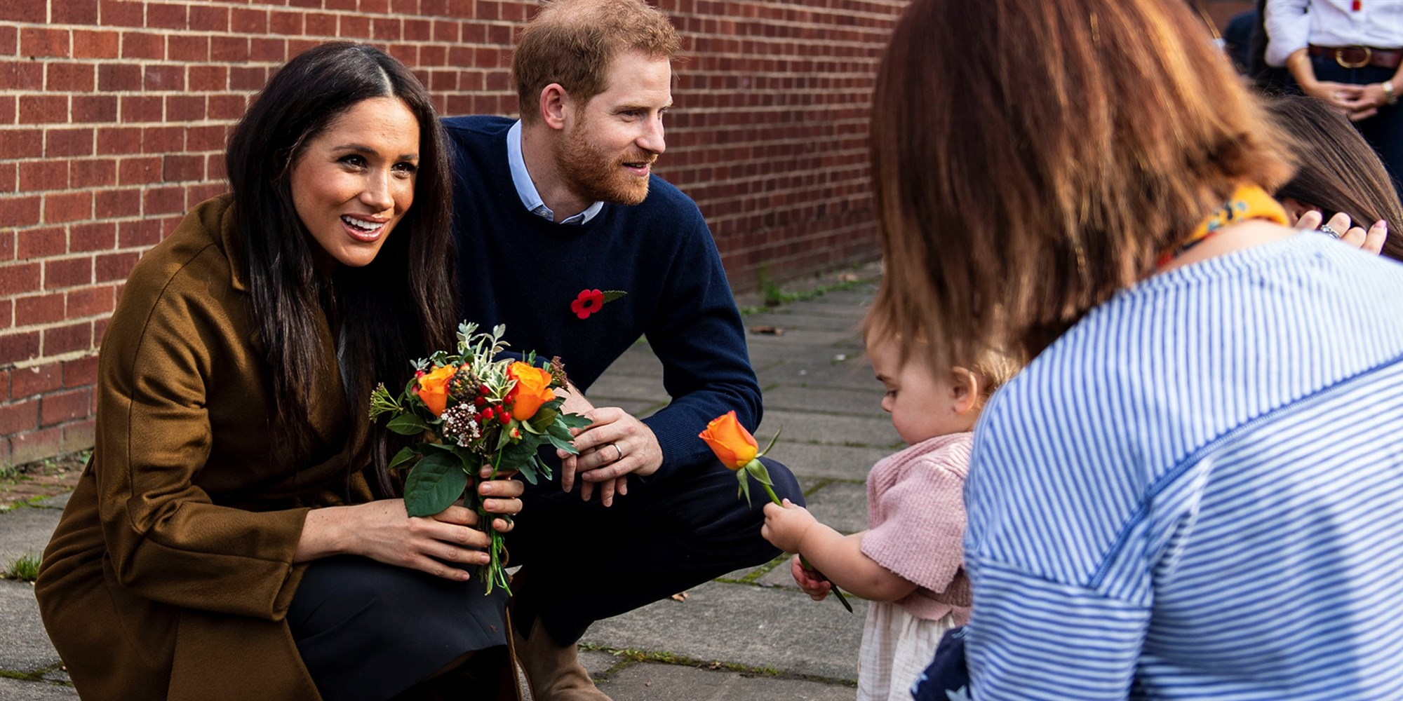 prince harry and meghan markle visit military families