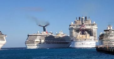 A collision between Carnival Glory and Carnival Legend injured six people