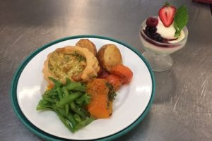 All Care Aged Care shared a picture of what it said is a more typical Christmas lunch