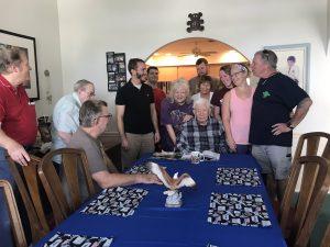 As a retired World War II pilot, Koser has much to celebrate