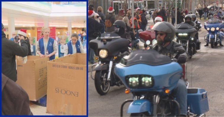 Bikers Arrive At Children's Hospital Colorado With Tons Of Toys To Deliver