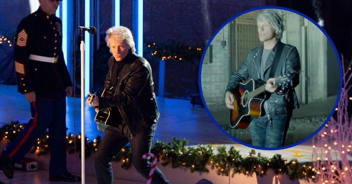 """Bon Jovi Performs Song """"Unbroken"""" For Veterans At Rockefeller Center"""