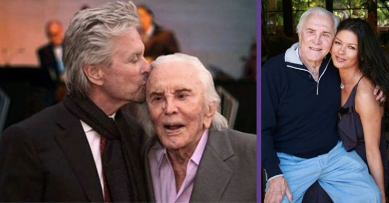 Catherine Zeta-Jones Posts Throwback Photo For Kirk Douglas' 103rd Birthday