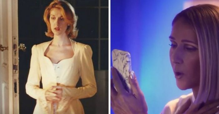 Celine Dion recreates her iconic 90s music video