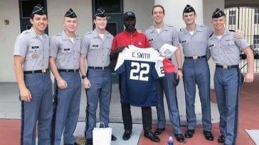 Citadel cadets give longtime janitor tickets to Dallas Cowboys game
