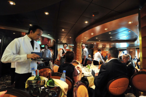 Cruise ship staff members have a secret area all for themselves