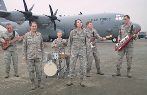 Defense Media Activity included military musicians from around the country and around the globe