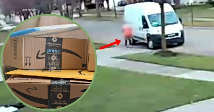 Delivery Driver Spotted Running Over Amazon Package Three Times