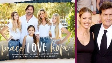 Denise Richards & Charlie Sheen's Daughters Are Looking All Grown Up In The Family Christmas Card