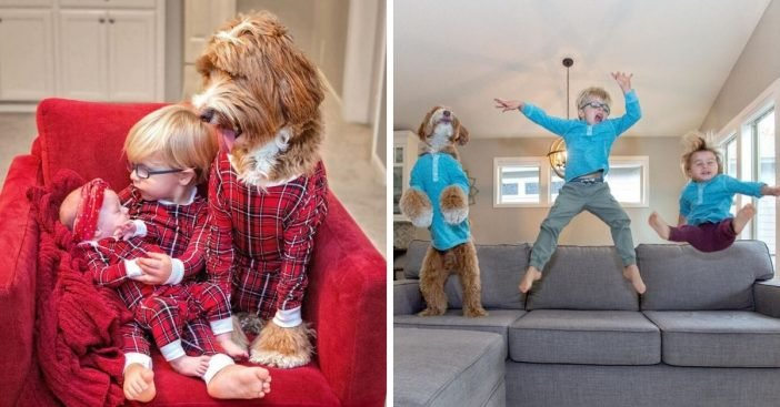 Dogs and adopted kids have heartwarming bond