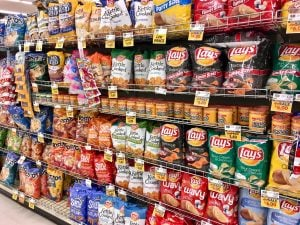 Dollar stores provide a lot of inexpensive options that are not always healthy