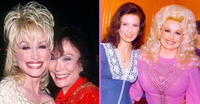 Dolly Parton shared a throwback photo of her and Loretta Lynn