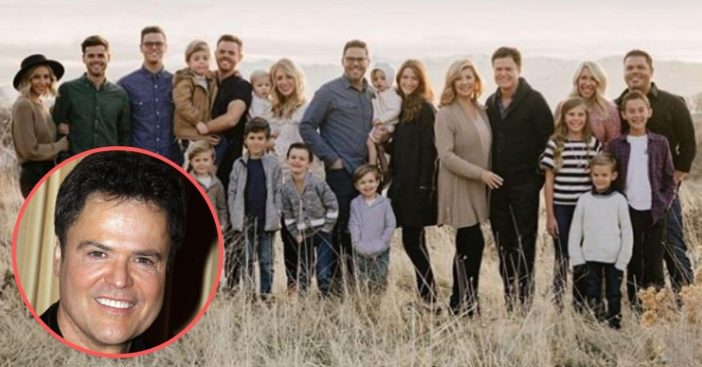 Donny Osmond Shares Rare Photo Of His Whole Family For 62nd Birthday