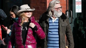 Goldie Hawn Bundles Up While Out And About Doing Christmas Shopping With Kurt Russell