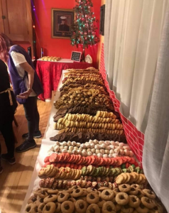 In total, they baked nearly 4,000 cookies