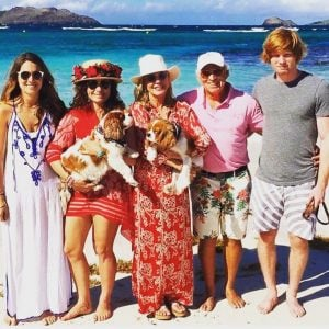 Jimmy Buffett, his wife, and children