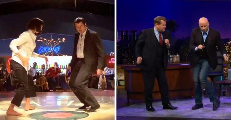 John Travolta gives a Pulp Fiction dance lesson