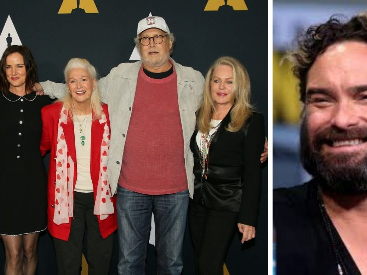 Johnny Galecki Reunites With 'Christmas
