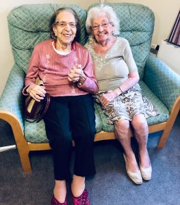 Kathleen Saville and Olive Woodward remain friends in their shared nursing home