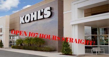 Kohl's Will Be Open 107 Hours Straight As They End The Holiday Shopping Season