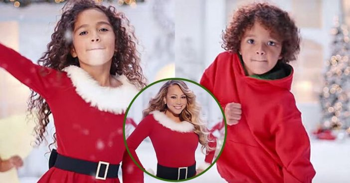 Mariah Carey's Twins, Monroe & Moroccan, Appear In Her New Christmas Music Video
