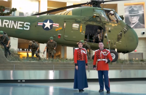 """Members from multiple military branches participated in a moving performance of """"Carol of the Bells"""""""