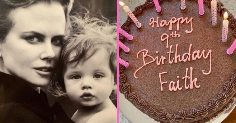 Nicole Kidman shares rare throwback photo of daughter Faith for her birthday