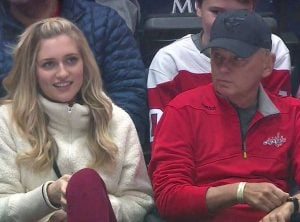 Pat Sajak and his daughter enjoyed watching a game recently
